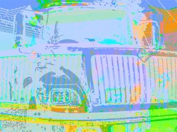 "Urban Extremes v4 Digital Giclee Print • 2004 • Image size: 30"" x 22.5"" • Framed: 38"" x 32"""