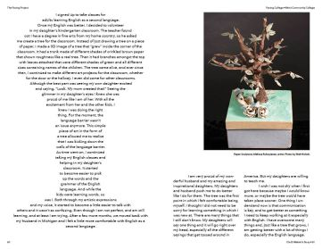 Page Spread from Facing College book