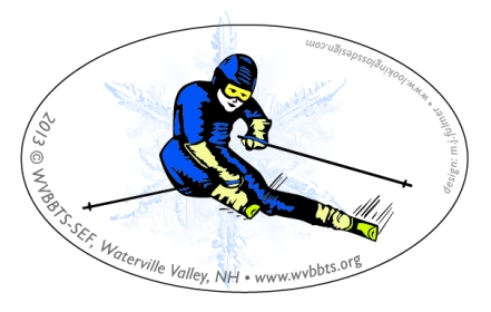 Sticker featuring Alpine Skier