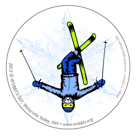 Sticker featuring Freestyle Skier