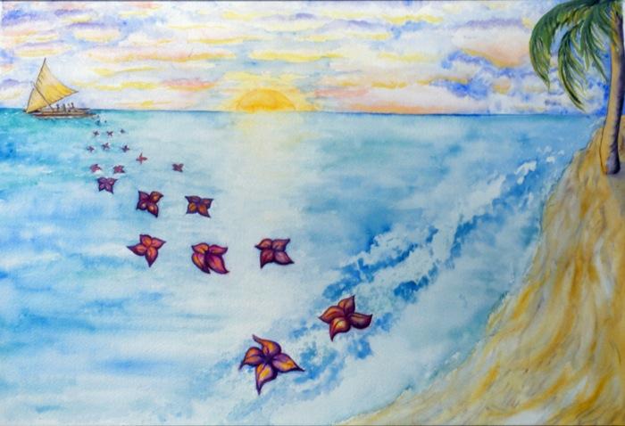 """Salu salu USP 25th Anniversary Book Cover • watercolor • 12""""x18"""""""