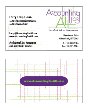 Accounting For All business card, v2