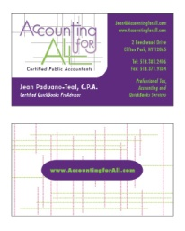 Accounting For All business card, v1