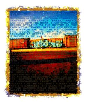 """Graffiti Train • Digital Art • 5""""x6"""""""