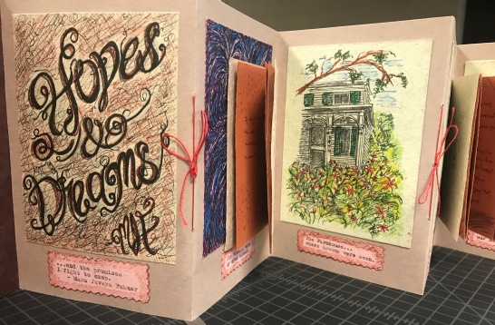 Hopes & Dreams - accordion book with sewn-in signatures