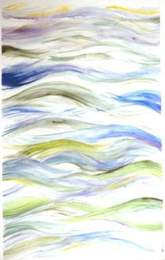 """Our Sea of Islands • watercolor for book cover • 18""""x24"""""""