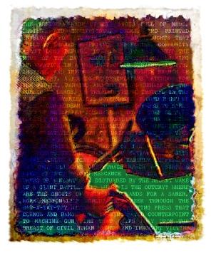 """The Pressman • Digital Art • 5""""x6"""""""