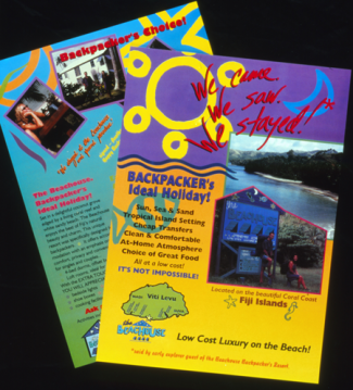 Fiji Beachouse promo flyer