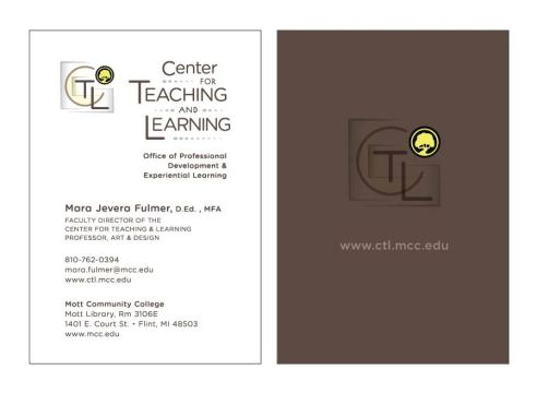 CTL Business Card - front/back
