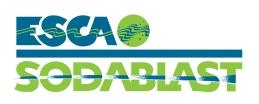 ESCA Sodablast - 2/c Wordmark, vertical, with Symbol