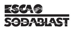 ESCA Sodablast - B/W Wordmark, vertical, with Symbol