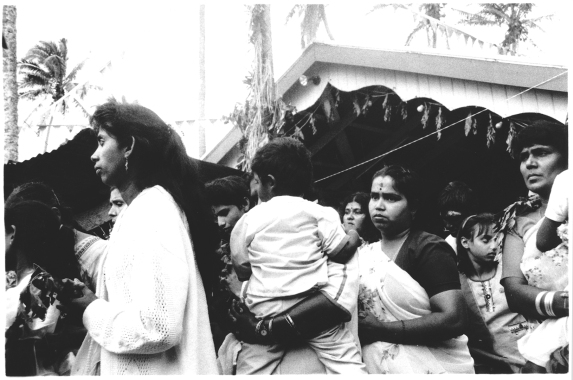 Women and Children wait to participate in Hindu Firewalking Ceremony, Navua, Fiji