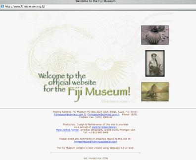 Fiji Museum website (2006)