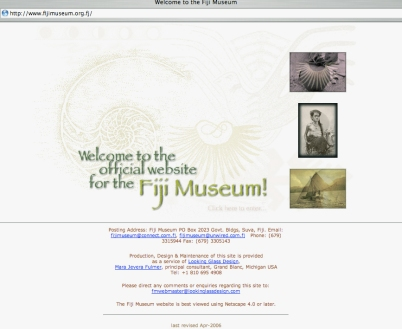 Fiji Museum website (2006)