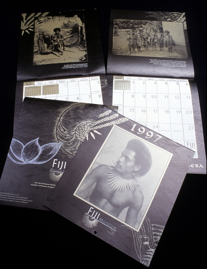 Fiji Museum calendar featuring Glass Plate Negatives