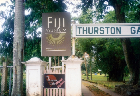 Fiji Museum entry - new logo (top), old logo (bottom)