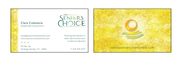 A Senior's Choice - business card
