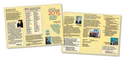 UNWFUNA Global Challenge 2015, Beijing, brochure