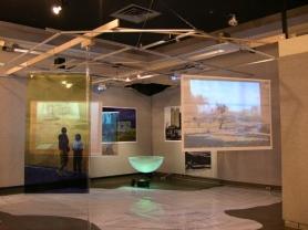 Se(a) Crossings installation, Kresge Art Museum, MSU, East Lansing